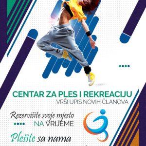 Centar za ples i rekreaciju vrši UPIS novih članova!